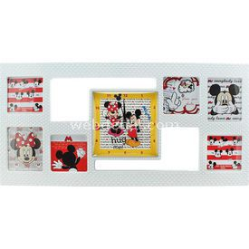 YKC Mickey Mouse Çerçeveli Duvar Saati Bebek Odası Aksesuarı
