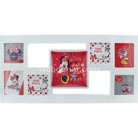 YKC Minnie Mouse Çerçeveli Duvar Saati Bebek Odası Aksesuarı