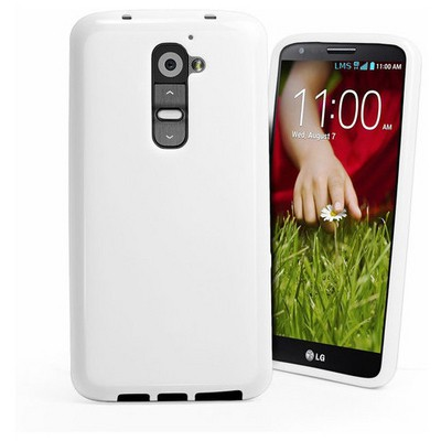 Microsonic Glossy Soft Kılıf Lg G2 Beyaz Cep Telefonu Kılıfı