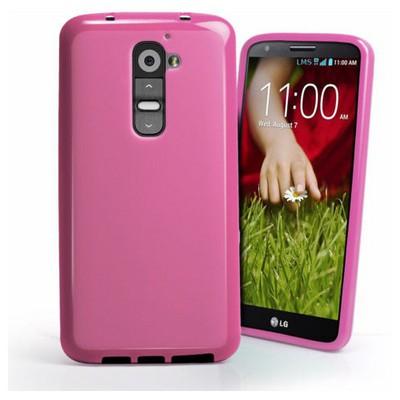 Microsonic Glossy Soft Kılıf Lg G2 Pembe Cep Telefonu Kılıfı