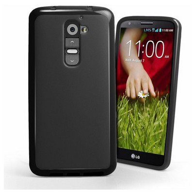 Microsonic Glossy Soft Kılıf Lg G2 Siyah Cep Telefonu Kılıfı