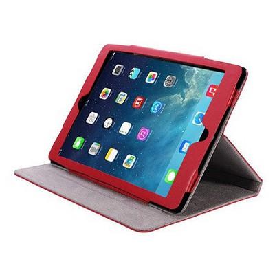 Microsonic Cute Desenli Kickstand Ipad 5 Air Deri Kılıfı Kırmızı Tablet Kılıfı