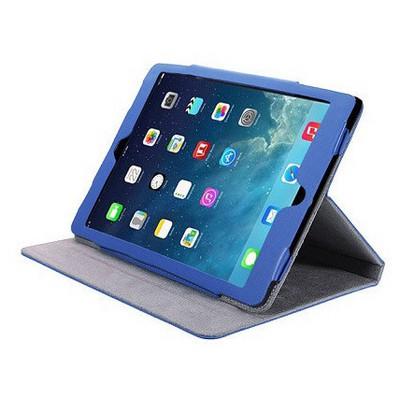 Microsonic Cute Desenli Kickstand Ipad 5 Air Deri Kılıfı Mavi Tablet Kılıfı