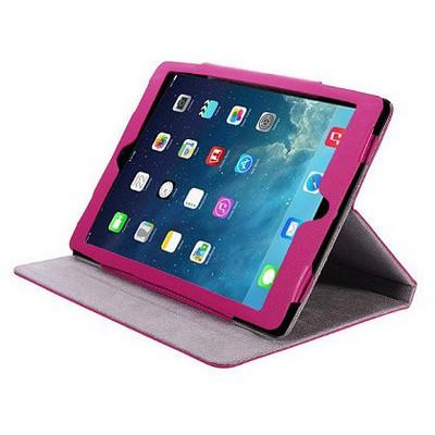 Microsonic Cute Desenli Kickstand Ipad 5 Air Deri Kılıfı Pembe Tablet Kılıfı