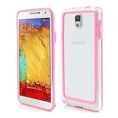 Microsonic Hybrid Tranparant Kılıf - Samsung Galaxy Note 3 N9000 Pembe Cep Telefonu Kılıfı