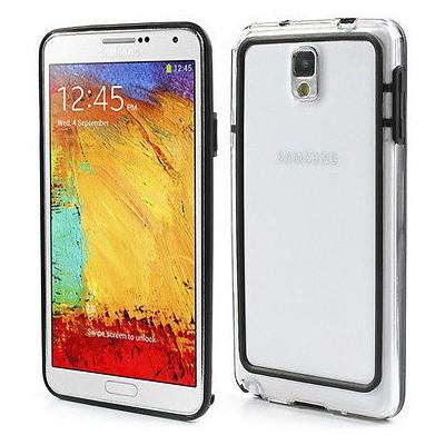 Microsonic Hybrid Transparant Kılıf - Samsung Galaxy Note 3 N9000 Siyah Cep Telefonu Kılıfı