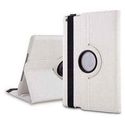 Microsonic 360 Rotating Stand Deri Kılıf Ipad 5 Air Beyaz Tablet Kılıfı