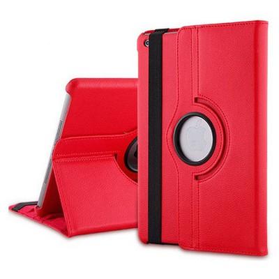 Microsonic 360 Rotating Stand Deri Kılıf Ipad 5 Air Kırmızı Tablet Kılıfı