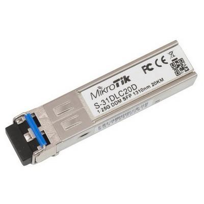 Mikrotik Sfp Module S-31dlc20d 1.25g Sm 20km 1310nm Firewall