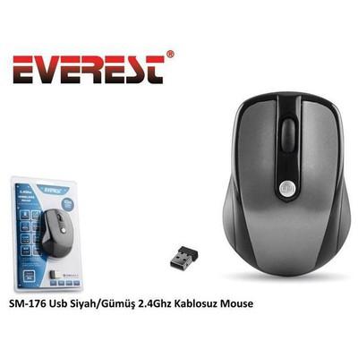 Everest SM-176 Kablosuz Mouse - Siyah/Gümüş
