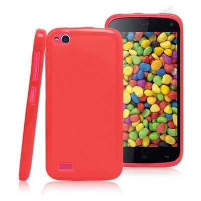 Microsonic Glossy Soft Kılıf General Mobile Discovery Kırmızı Cep Telefonu Kılıfı