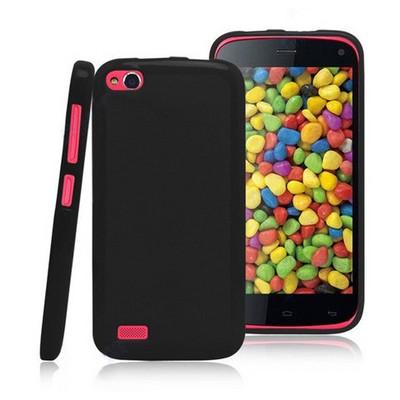 Microsonic parlak Soft Kılıf General Mobile Discovery Siyah Cep Telefonu Kılıfı