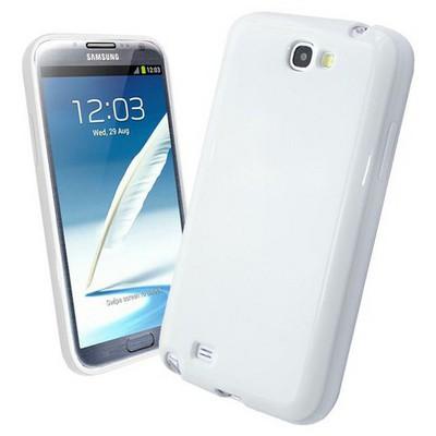 Microsonic parlak Soft Kılıf Samsung Galaxy Note 2 N7100 Beyaz Cep Telefonu Kılıfı