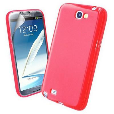 Microsonic Glossy Soft Kılıf Samsung Galaxy Note 2 N7100 Kırmızı Cep Telefonu Kılıfı