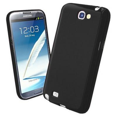 Microsonic Glossy Soft Kılıf Samsung Galaxy Note 2 N7100 Siyah Cep Telefonu Kılıfı
