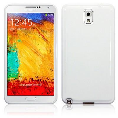 Microsonic Glossy Soft Kılıf Samsung Galaxy Note 3 N9000 Beyaz Cep Telefonu Kılıfı