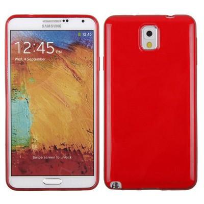 Microsonic Glossy Soft Kılıf Samsung Galaxy Note 3 N9000 Kırmızı Cep Telefonu Kılıfı