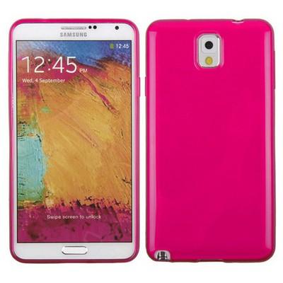 Microsonic Glossy Soft Kılıf Samsung Galaxy Note 3 N9000 Pembe Cep Telefonu Kılıfı