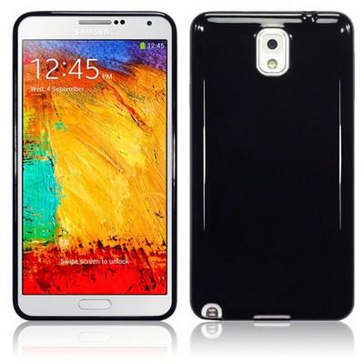 Microsonic Glossy Soft Kılıf Samsung Galaxy Note 3 N9000 Siyah Cep Telefonu Kılıfı