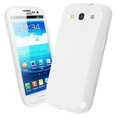 Microsonic parlak Soft Kılıf Samsung Galaxy S3 I9300 Beyaz Cep Telefonu Kılıfı