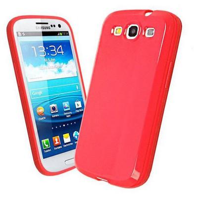 Microsonic Glossy Soft Kılıf Samsung Galaxy S3 I9300 Kırmızı Cep Telefonu Kılıfı