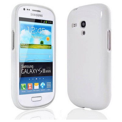 Microsonic parlak Soft Kılıf Samsung Galaxy S3 Mini I8190 Beyaz Cep Telefonu Kılıfı