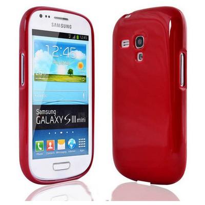 Microsonic Glossy Soft Kılıf Samsung Galaxy S3 Mini I8190 Kırmızı Cep Telefonu Kılıfı