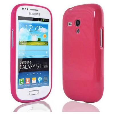 Microsonic Glossy Soft Kılıf Samsung Galaxy S3 Mini I8190 Pembe Cep Telefonu Kılıfı