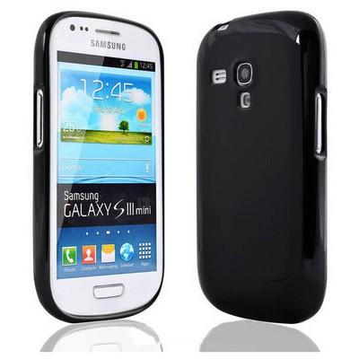 Microsonic Glossy Soft Kılıf Samsung Galaxy S3 Mini I8190 Siyah Cep Telefonu Kılıfı