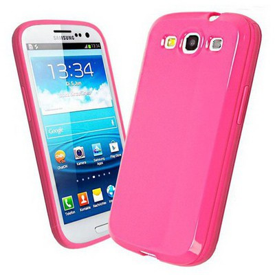 Microsonic Glossy Soft Kılıf Samsung Galaxy S3 I9300 Pembe Cep Telefonu Kılıfı