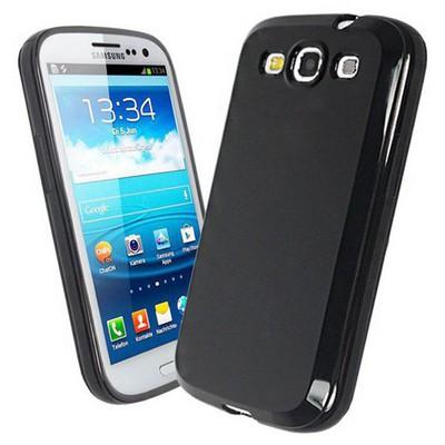 Microsonic Glossy Soft Kılıf Samsung Galaxy S3 I9300 Siyah Cep Telefonu Kılıfı