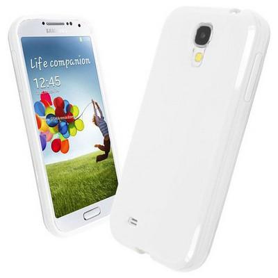 Microsonic Glossy Soft Kılıf Samsung Galaxy S4 I9500 Beyaz Cep Telefonu Kılıfı