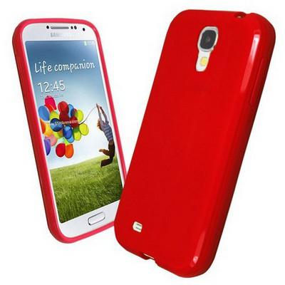Microsonic Glossy Soft Kılıf Samsung Galaxy S4 I9500 Kırmızı Cep Telefonu Kılıfı