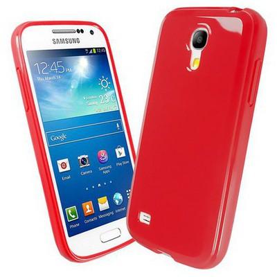Microsonic Glossy Soft Kılıf Samsung Galaxy S4 Mini I9190 Kırmızı Cep Telefonu Kılıfı
