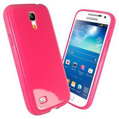 Microsonic Glossy Soft Kılıf Samsung Galaxy S4 Mini I9190 Pembe Cep Telefonu Kılıfı