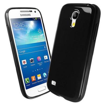Microsonic Glossy Soft Kılıf Samsung Galaxy S4 Mini I9190 Siyah Cep Telefonu Kılıfı