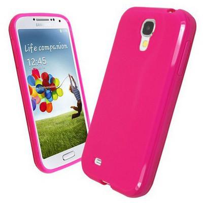 Microsonic Glossy Soft Kılıf Samsung Galaxy S4 I9500 Pembe Cep Telefonu Kılıfı