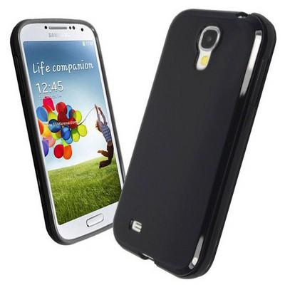 Microsonic Glossy Soft Kılıf Samsung Galaxy S4 I9500 Siyah Cep Telefonu Kılıfı