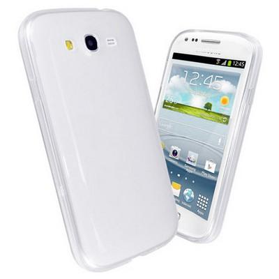 Microsonic Glossy Soft Kılıf Samsung Galaxy Grand Duos I9080 / I9082 Beyaz Cep Telefonu Kılıfı