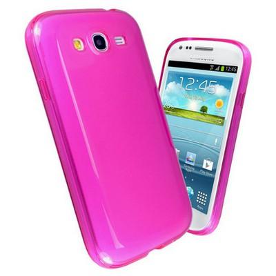 Microsonic Glossy Soft Kılıf Samsung Galaxy Grand Duos I9080 / I9082 Pembe Cep Telefonu Kılıfı