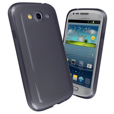 Microsonic parlak Soft Kılıf Samsung Galaxy Grand Duos I9080 / I9082 Siyah Cep Telefonu Kılıfı