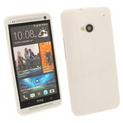 Microsonic Glossy Soft Kılıf Htc One M7 Beyaz Cep Telefonu Kılıfı