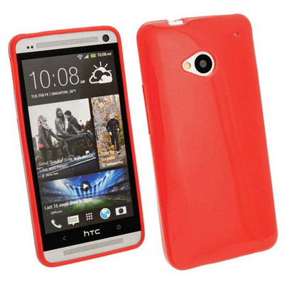 Microsonic Glossy Soft Kılıf Htc One M7 Kırmızı Cep Telefonu Kılıfı