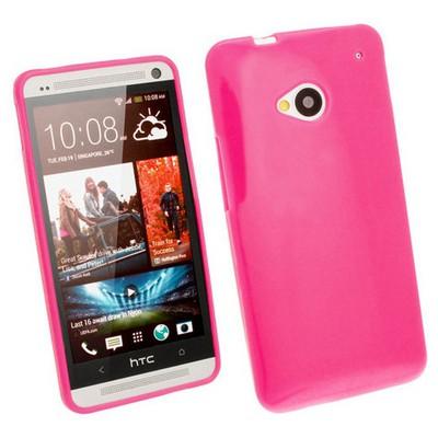 Microsonic Glossy Soft Kılıf Htc One M7 Pembe Cep Telefonu Kılıfı