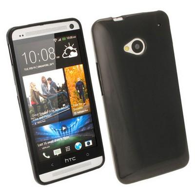 Microsonic Glossy Soft Kılıf Htc One M7 Siyah Cep Telefonu Kılıfı