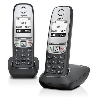 Gigaset A415-Duo 100 Rehber 25 Arama Kaydı Caller İd Eco Dect Telsiz Telefon