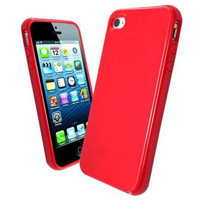 Microsonic Glossy Soft Kılıf Iphone 4s Kırmızı Cep Telefonu Kılıfı