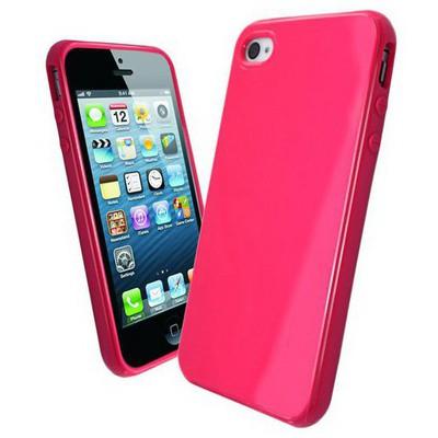 Microsonic Glossy Soft Kılıf Iphone 4s Pembe Cep Telefonu Kılıfı