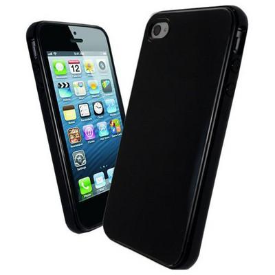 Microsonic Glossy Sof Kılıf Iphone 4s Siyah Cep Telefonu Kılıfı