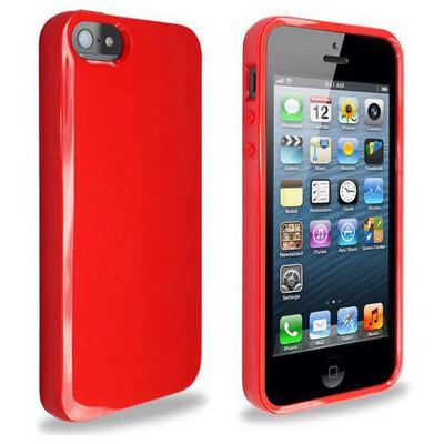 Microsonic Glossy Soft Kılıf Iphone 5& 5s Kırmızı Cep Telefonu Kılıfı